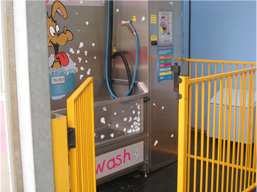Dog Wash Gate Open